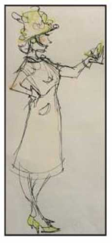 The Looking Glass Gesture drawing by Diana Coco Russell.