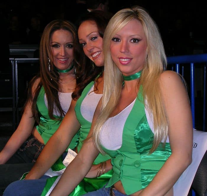 good in green: Three lucky charms Denise, Daniell and Michele