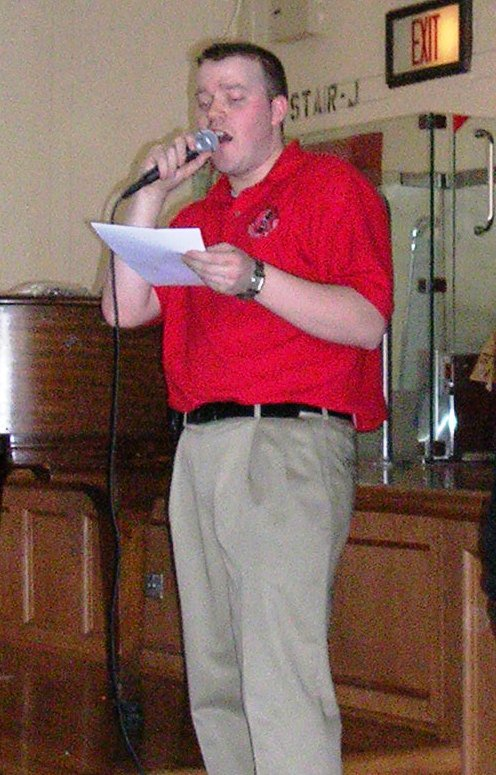 Shaun Smith: Not singing, but announcing awards.