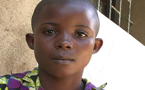 Safi, from Bunyakiri, 12 years old Raped at age 11 as her home was being looted by soldiers.