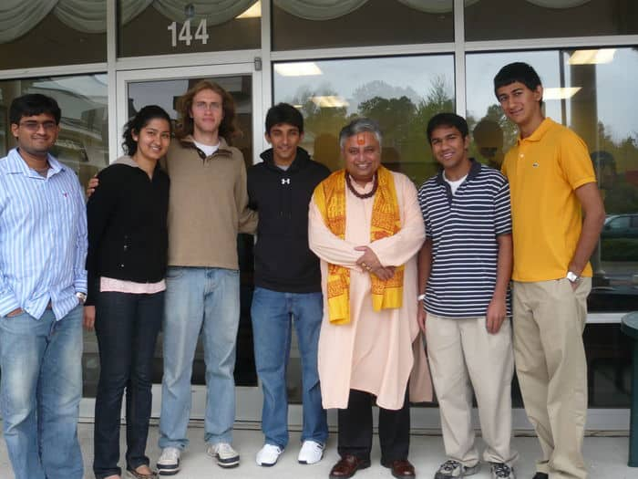 Rajan Zed with Executive Board members of Duke University Hindu Students Association.