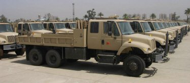 The Iraqi Army received International 5 Ton cargo trucks it procured through the Foreign Military Sales program.