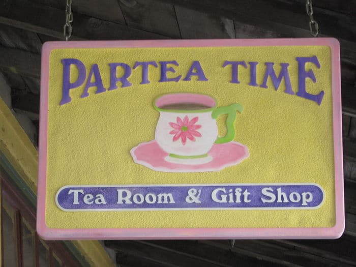 Partea Time Tea Room in Historic Folsom welcomes guests.