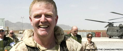 General Hillier in Afghanistan.