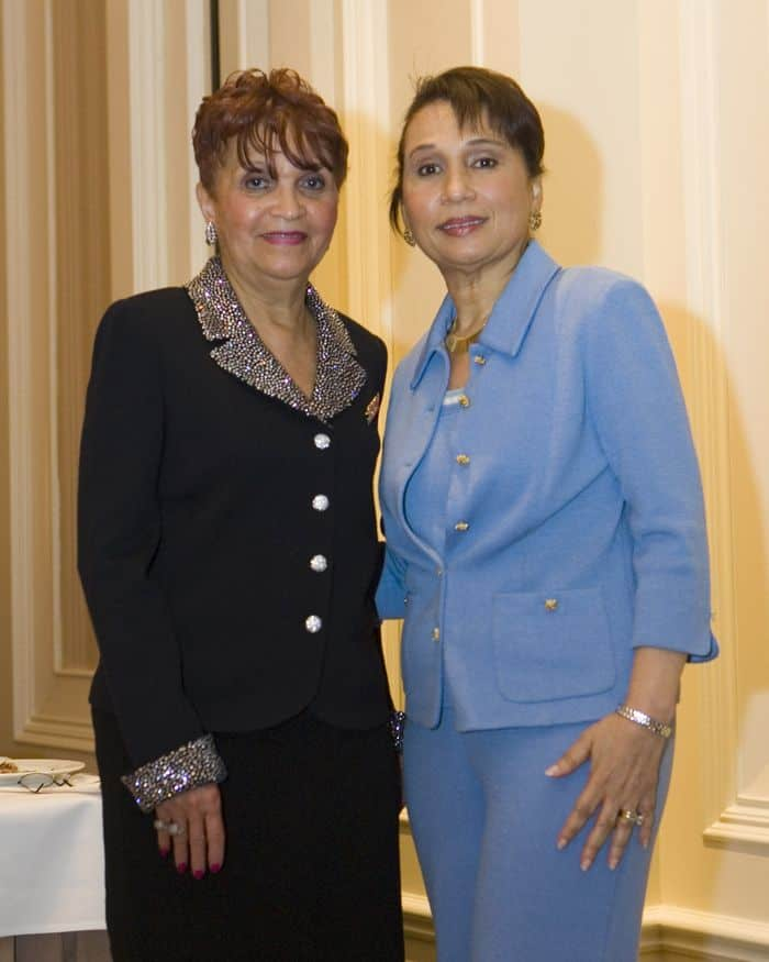 Alexis Herman, right, former U.S. Secretary of Labor, with Beryl Warren of the Southern Nevada Coalition of Concerned Women at the Four Seasons in Las Vegas, Nev.