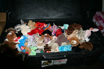 Hellraisers send Beanie Babies to Amy Hammonds at Soldiers Angels.