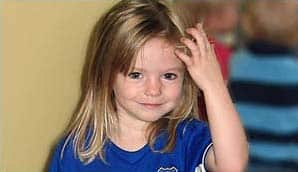 Madeleine McCann, who disappeared from a holiday apartment in Portugal.
