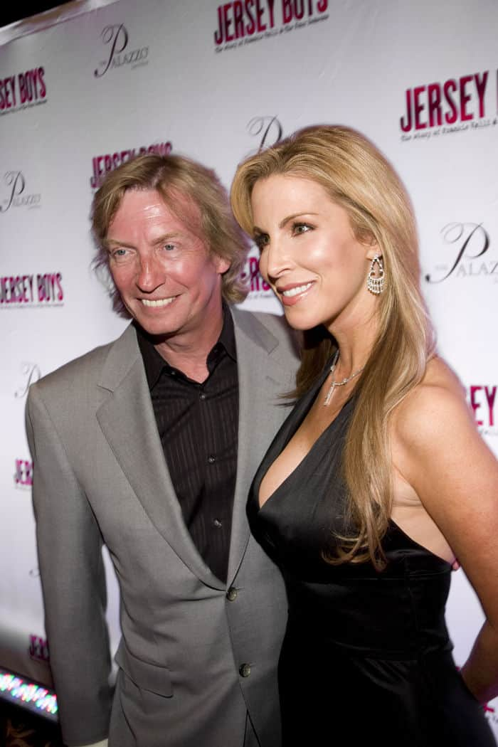 Nigel Lythgoe with local entertainment reporter Alicia Jacobs
