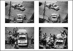 Clips from the videotape of the Jones beating.