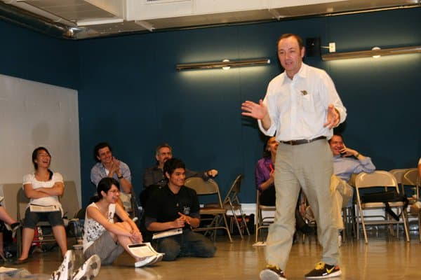 Workshop with guest artist Kevin Spacey.