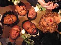 The cast of Make it So, Adam R. Deremer, Beverly Bonner, Leonard Dozier, Brian Karim, Georgia Southern and Milan Conner.