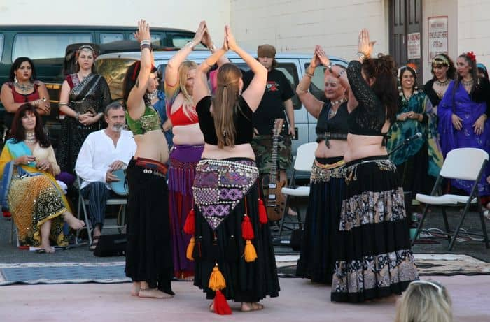 Belly Dancers start the show