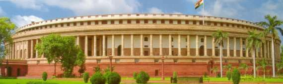 outside view of Indian Parliament