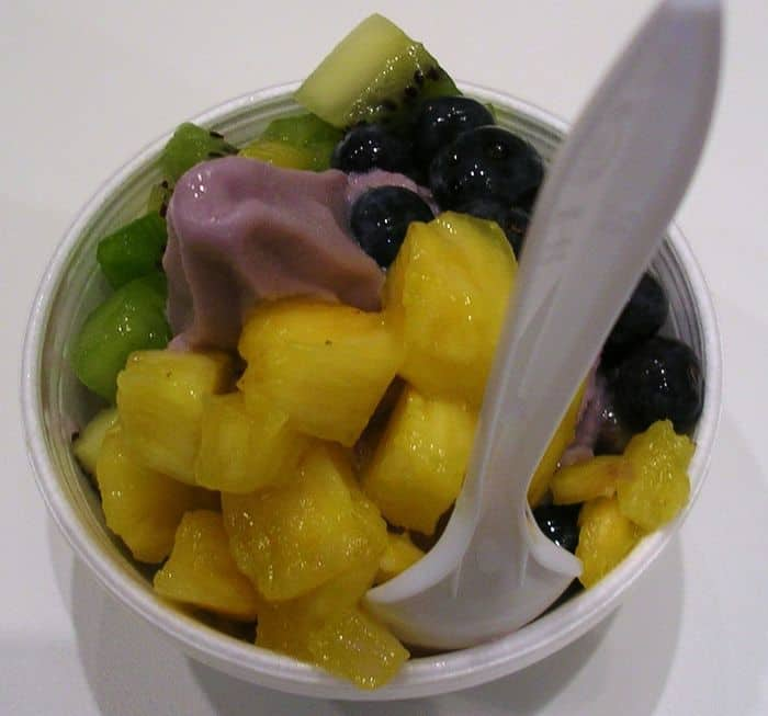 ith fresh blueberries, kiwi and pineapple.