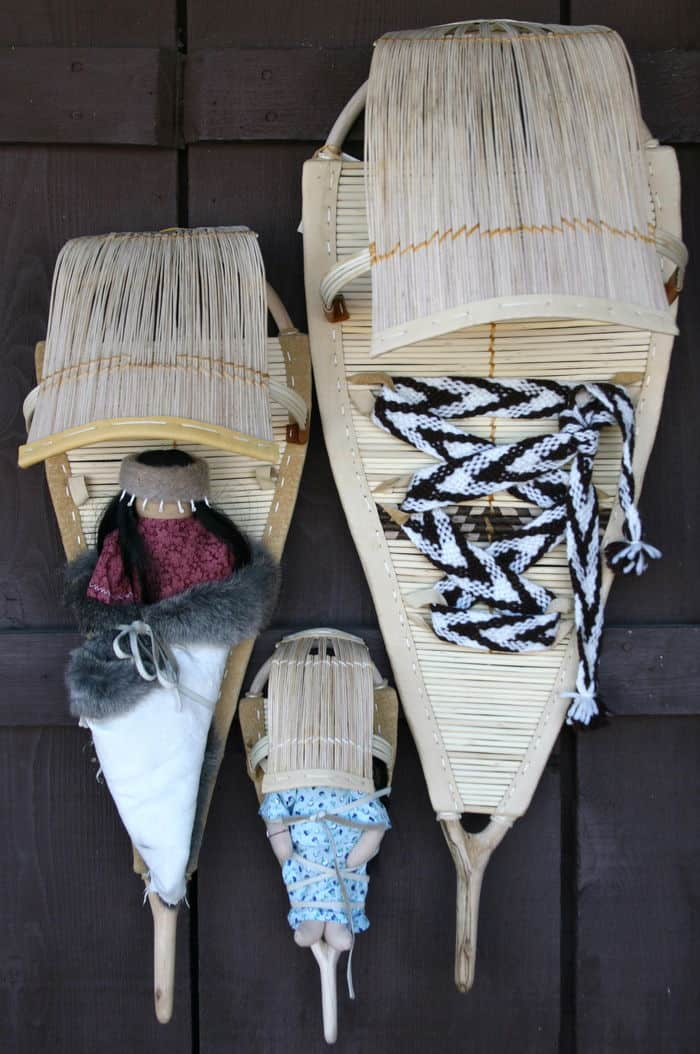 Three Maidu Baby Carriers, known as Tutum