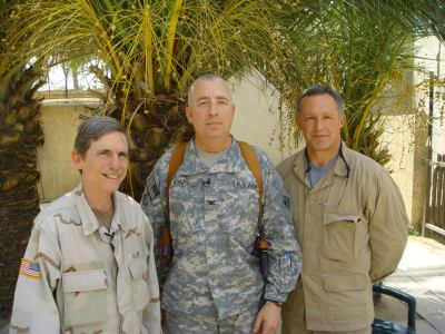 Bob Calvert, COL Michael R. Aberle and Jim Martin.
