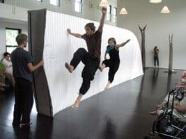 Workshop of Atomic City at Watermill Center. Jumping: Jens.