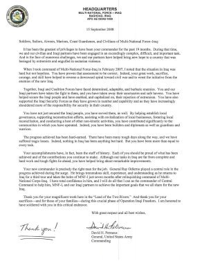 Petraeus Letter.