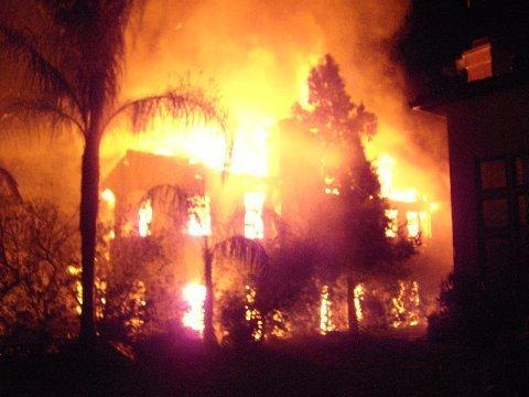Ramona home on fire.