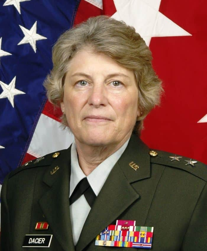 Major General Donna L. Dacier.