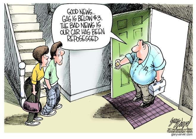 Editorial Cartoons by Gary Varvel - gv20081013cd - 13 October 2008