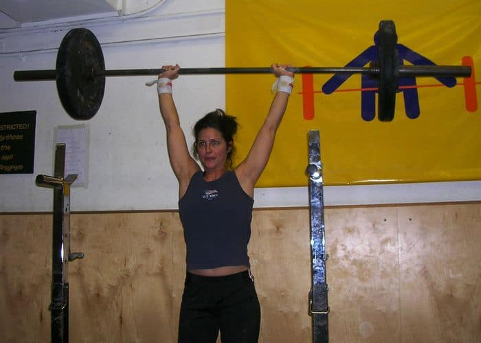 Vanessa DeChiara weightlifting.