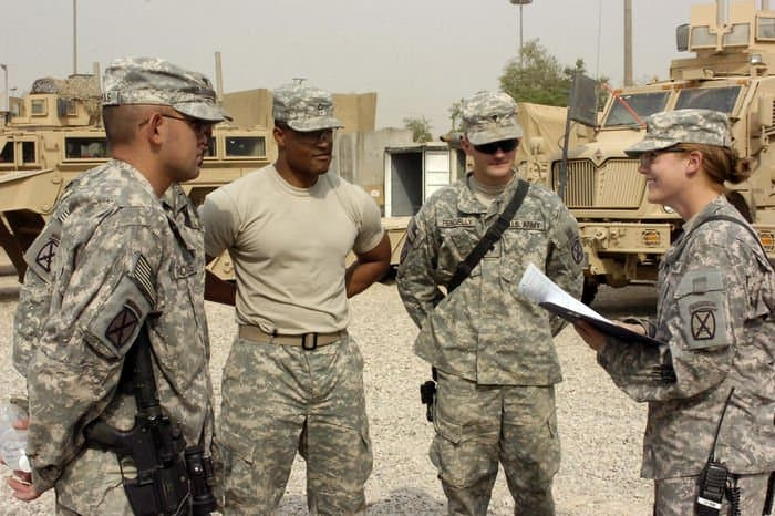 Raine, in a briefing at FOB Loyalty.