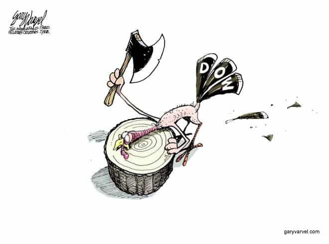 Editorial Cartoons by Gary Varvel - gv20081124cd - 24 November 2008