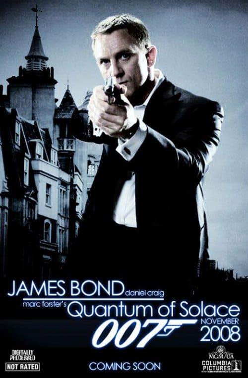 Quantum of Solace poster.