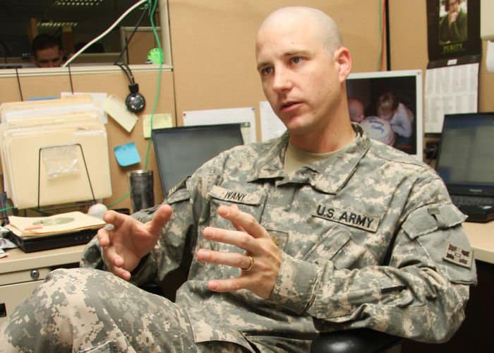 Maj. Chris Ivany, division psychiatrist discusses his role to help Ironhorse Division Soldiers prepare for physical and mental transitions as they prepare to return home.