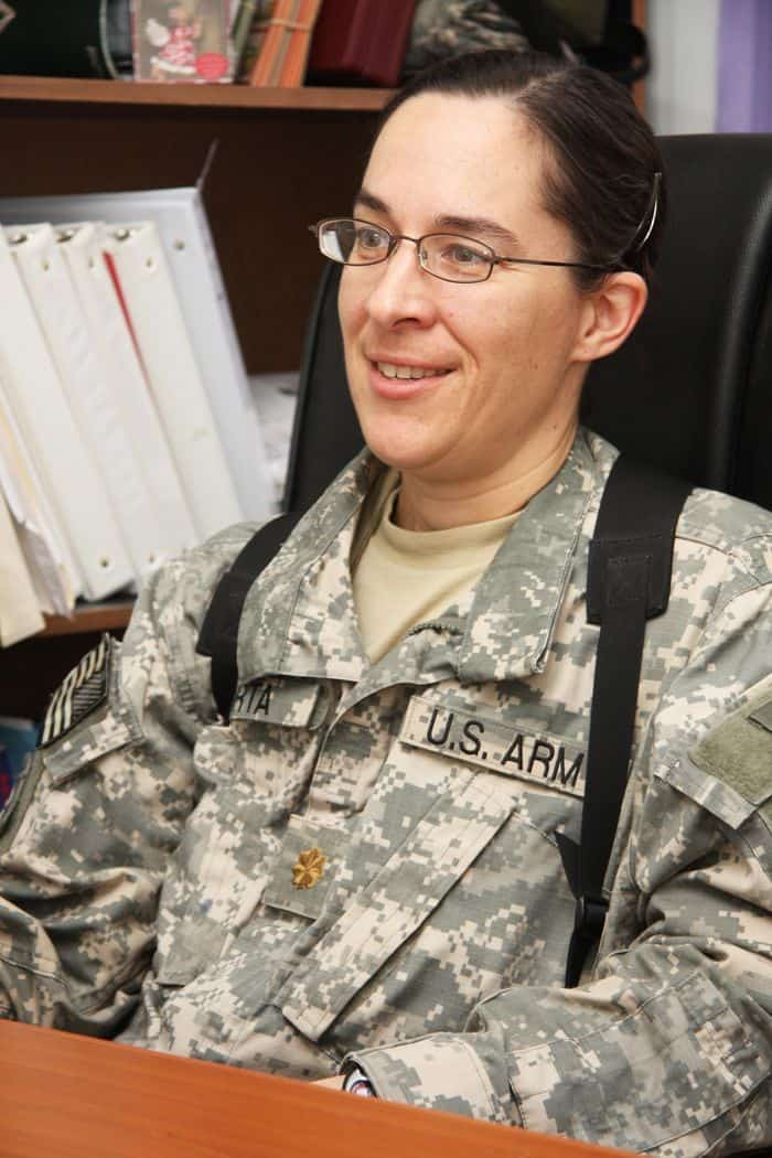 Maj. Dawn Orta, senior physician assistant, discusses her role