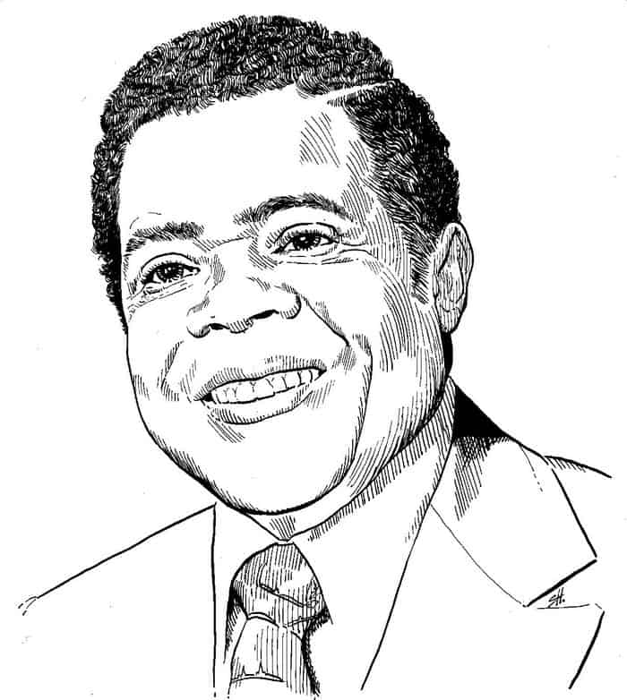 Line Drawing of Gus Beekman
