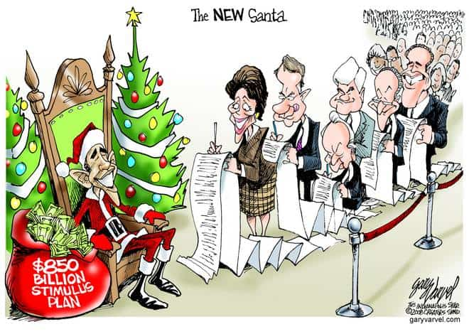 Editorial Cartoons by Gary Varvel - gv20081219bcd - 19 December 2008