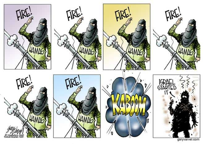 Gaza terrorists of Hamas Say Israel Always Starts The Conflict Yeah, Right!