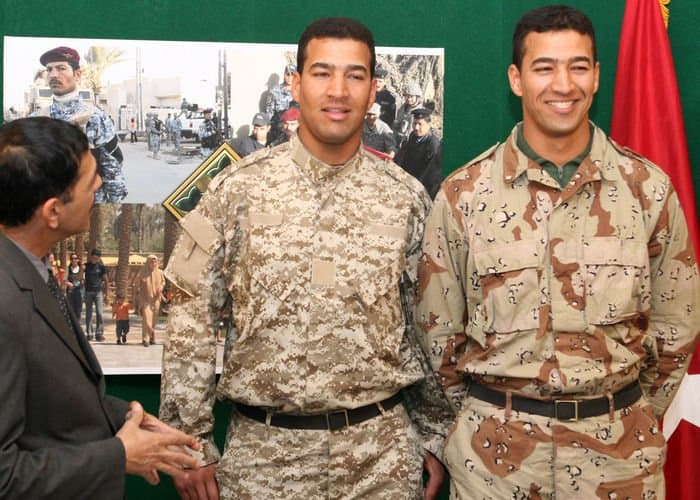 Privates, and identical twin brothers, Moner Kamel Abed and Karim Kamel Abed, natives of Hila City, Iraq, Security Personnel with Company 5, 2nd Battalion, 44th Brigade, 11th Iraqi Army Division, speak about how proud they are to be in the service of their country.
