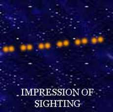 Impression of UFO sighting