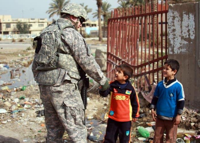 Sgt Cothren and children