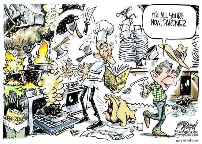 Editorial Cartoons by Gary Varvel - gv20090119bcd - 19 January 2009