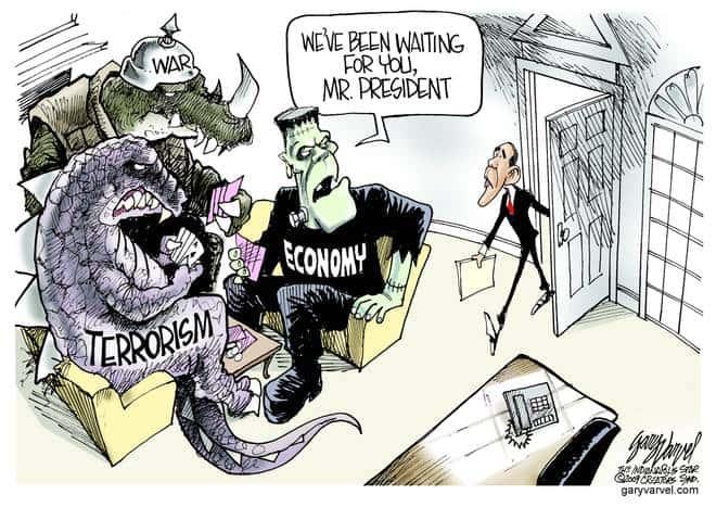 Editorial Cartoons by Gary Varvel - gv20090121cd - 21 January 2009