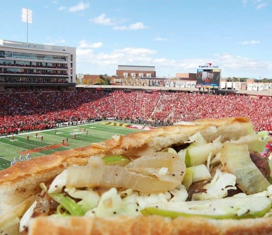 Maryland football food delivery.