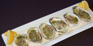 Olenjacks Baked Oysters with Bacon Bourbon Butter
