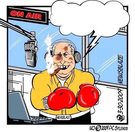 Rush Limbaugh cartoon