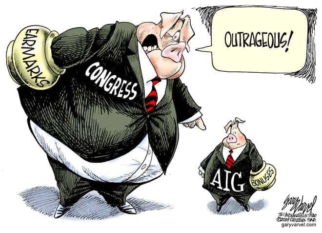 Editorial Cartoons by Gary Varvel - gv20090319cd - 19 March 2009