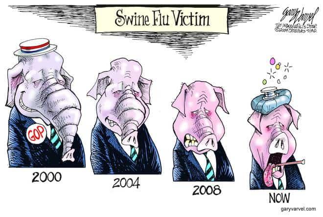 Editorial Cartoons by Gary Varvel - gv20090430cd - 30 April 2009