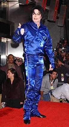 Michael Jackson in blue suit.