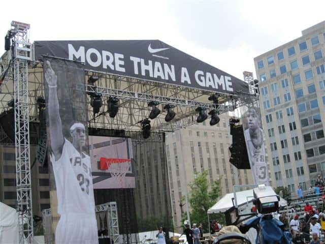 The More Than A Game stage with LeBraon James picture.