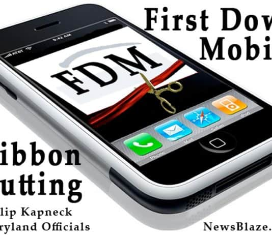 honorable philip kapneck represented maryland at first down mobile ribbon cutting.