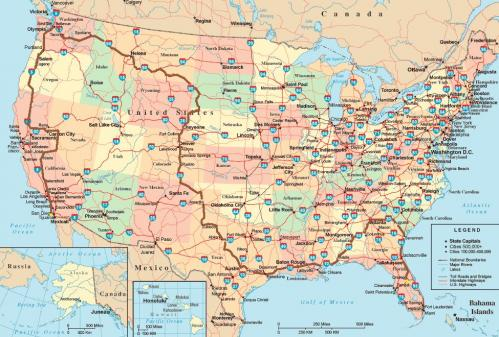 tea party express map