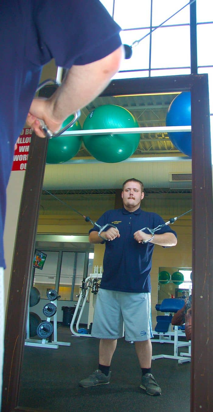Rocky Stroup, a student at Camp Atterbury Job Corps, recently lost more than 189 pounds through better food choices, exercise and a lot of will power.
