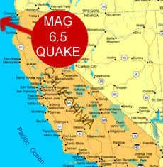 6.5 quake off coast of California